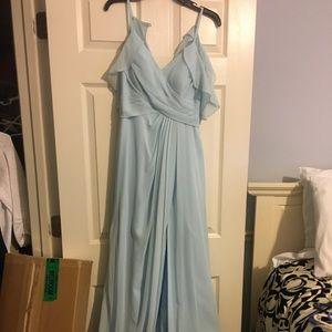 Light blue maxi dress